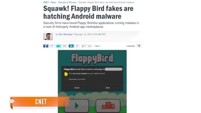 News video: Flappy Bird Malware Spreads As Official App Is Discontinued